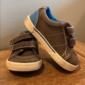 Sperry Shoes Baby size 2M gray and blue nearly new